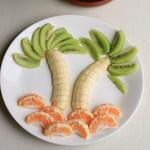 用最常见水果描绘童心—椰风果盘