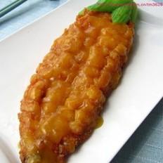 橙香玉米鱼的做法