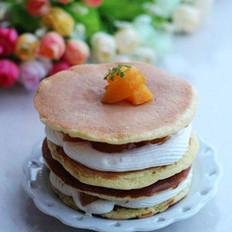 黄桃奶油松饼的做法