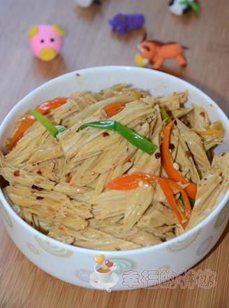 豆豉红椒炒腐竹的做法