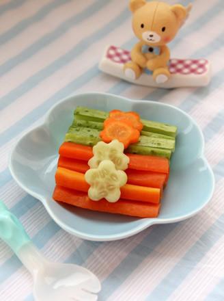 双色蔬菜条的做法