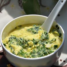 韭菜蒸蛋羹的做法