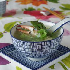 蟹肉芦笋汤的做法
