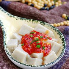 蒜蓉辣酱嫩豆腐的做法