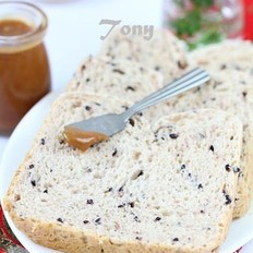 黑米饭土司的做法