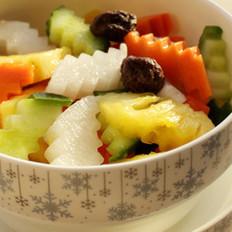 五色菠萝泡菜的做法