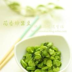 茴香炒蚕豆的做法