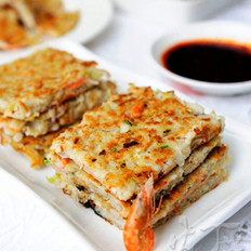 萝卜丝虾饼的做法