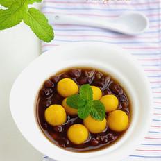 南瓜圆子红豆汤的做法