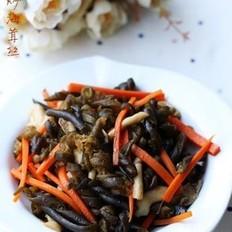 菌菇炒海茸丝
