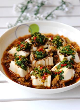 高考神菜开胃补脑的果仁蒸拌豆腐 - 浓情美食客 - 浓情美食客