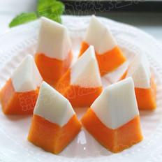 椰香木瓜凍的做法