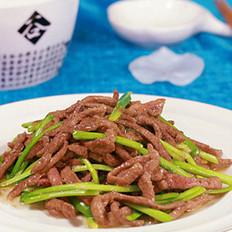 韭菜白炒肝丝