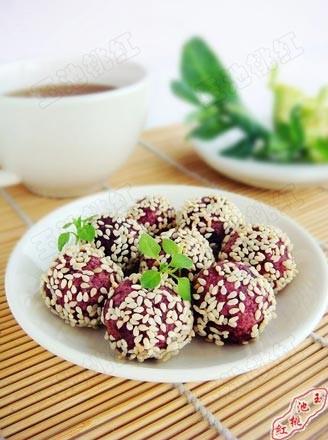 紫薯小麻团