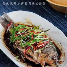 花椒蒸鲫鱼