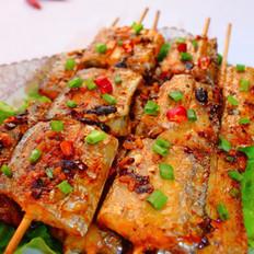 竹签烤带鱼的做法