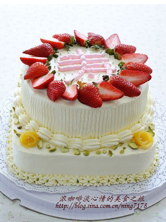 双层奶油草莓蛋糕的做法