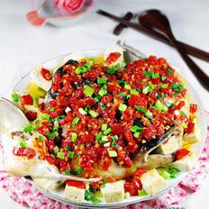 剁椒鱼头豆腐的做法
