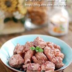 莓酱排骨的做法