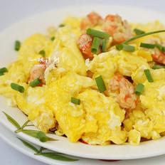 北极虾仁炒鸡蛋的做法