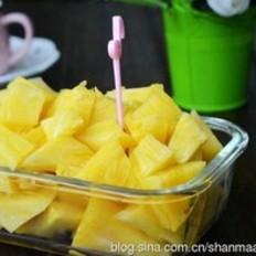 三分钟快速削菠萝