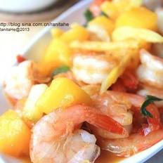 泰式芒果炒虾