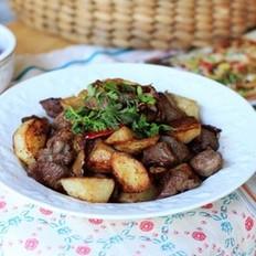 干煸土豆羊肉的做法