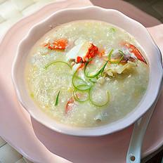 蟹肉粥的做法