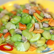 蚕豆肉丁的做法