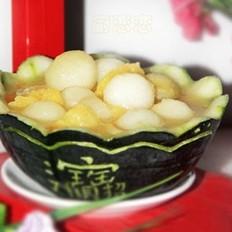 菠萝冬瓜球的做法