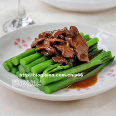 蚝油芥兰牛肉的做法