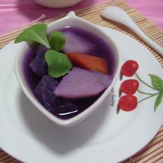 紫薯土豆汤的做法
