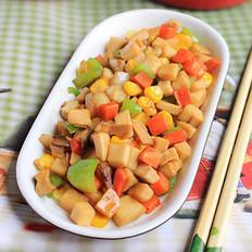 杏鲍菇炒甜玉米的做法