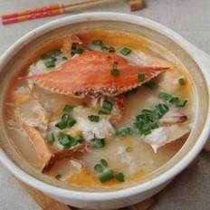 海蟹砂锅粥的做法
