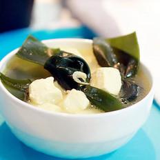 虾米海带豆腐汤的做法