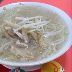 豆芽肉丝汤的做法