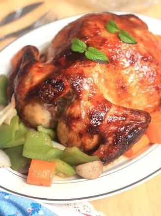 蜜汁烤全鸡的做法