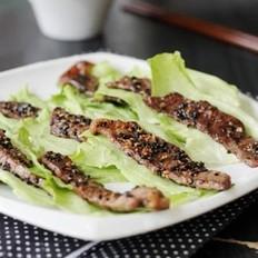 芝麻香煎牛肉片的做法