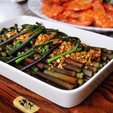 蒜泥拌蕨菜的做法