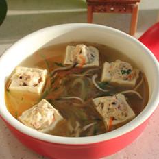 意面豆腐盅的做法