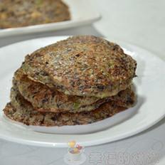 黑玉米渣软煎饼的做法