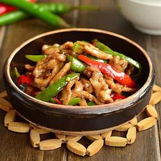 尖椒炒肉丝的做法