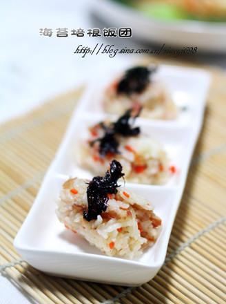 海苔培根饭团的做法