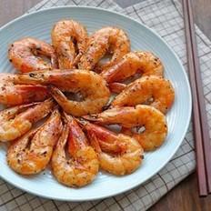 海鹽黑椒煎大蝦的做法