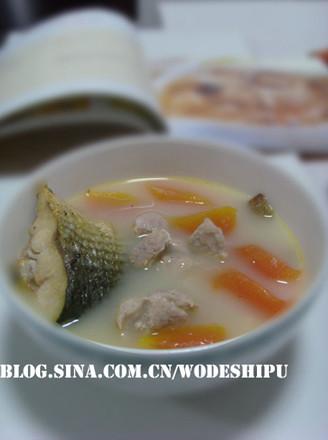 木瓜鱼尾汤的做法