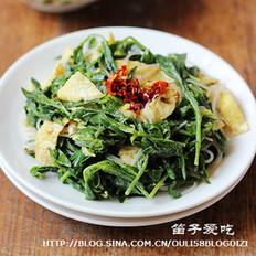 麻酱拌山苜楂菜的做法