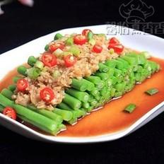 蒜蓉豇豆的做法