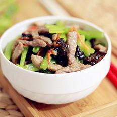 芹菜炒肉絲的做法