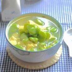 豆米鸡蛋汤的做法