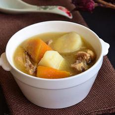 南瓜山药炖鸡汤的做法